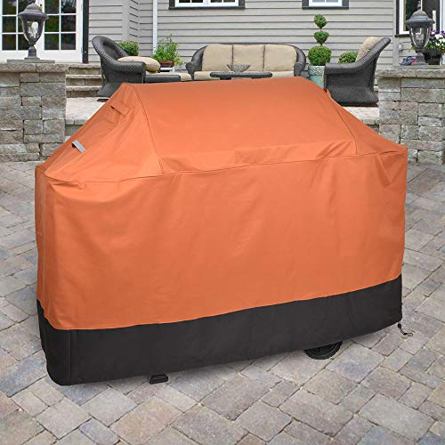 Griller's Guard Waterproof BBQ Grill Cover for Heavy Duty Outdoor Use - Cover Your Barbecue Grill Year Round - Winter Summer - Complete Protection 42' x 58' x 24' (Orange)