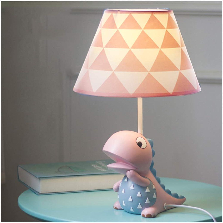 YYF Karikatur-Dinosaurier-Tischlampe - Jungen-Mdchen-Schlafzimmer-Kinderdreieck-Nachttischlampe (Farbe   Blau-42cmX25cm)