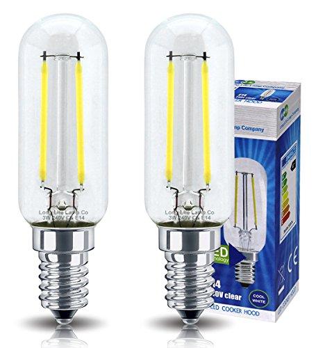 2LED-Glühbirnen für Dunstabzugshaube, 3W = 40W, Energiesparlampe, SES E14, kleine Schraube