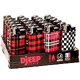 24 Djeep Plaid Lighters - Slant Tray