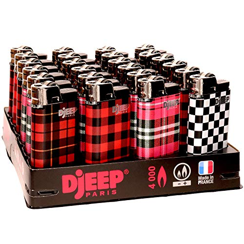 24 Djeep Plaid Lighters - Slant Tray