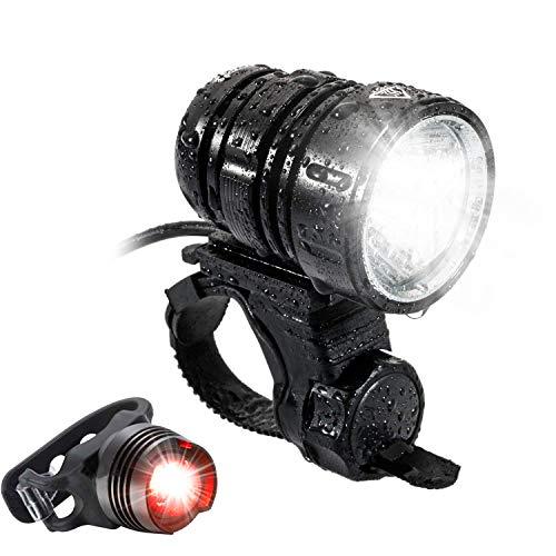 Helle LED -Front Taschenlampe,1200 Lumen Wasserdicht USB Wiederaufladbare 4 Modi Taschenlampe