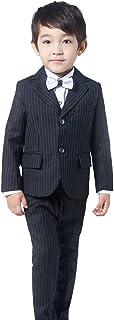 (AIMI)子供服 男の子 フォーマル スーツ 4点セット キッズ スーツ 入園式 入学式 卒業式 発表会 演奏会 七五三 卒園式 結婚式 NT017