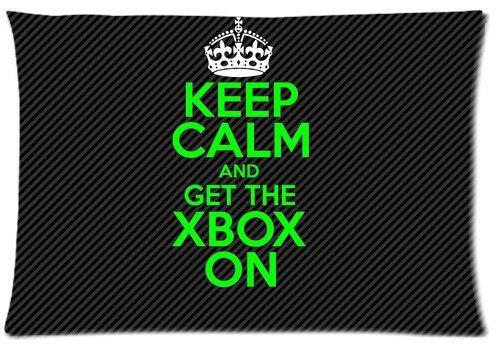 KASPL EVSTMES Keep Calm Xbox ON Classical Cushion Cover Throw Pillow Covers Case Fundas para Almohada (35cmx50cm)