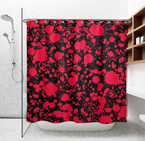 blood spatter shower curtain - 6