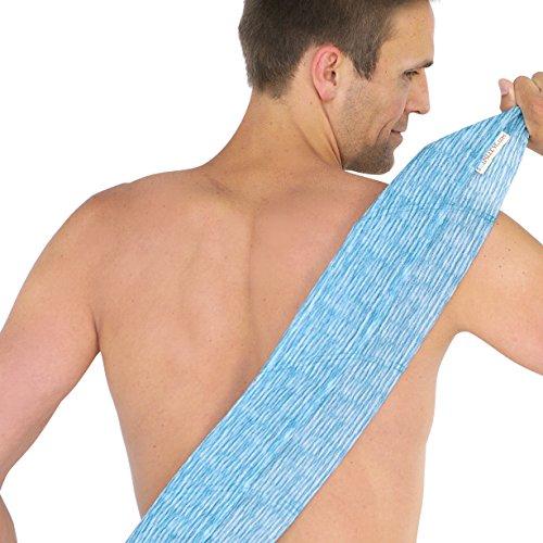 SoapSleeve Exfoliating Loofah Sponge: Long Back Scrubber Shower & Bath Body Lufa for Men & Women| Exfoliating Back Scrubber Loofah To Exfoliate, Rejuvenate & Relax Your Body - MARSHA