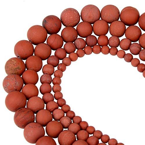 KEJI Polaco Redondo Mate Esmerilado Ojo De Tigre Turquesas Cuentas De Piedra Natural Sandía Cuentas Sueltas para Fabricación De Joyas De Pulsera