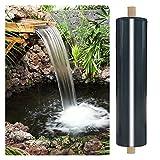 RT-OSXE 0.5mm Fischteichfolie, Heavy Duty UV-beständig Gummi Teichfolien, Flexibel Undurchlässige Membran für Brunnen Wasserfall Schwimmbad, Anpassen (Color : Black (0.5mm), Size : 5mx6m)