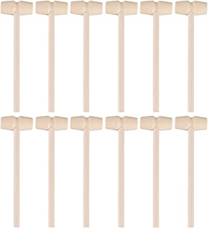 Generic 24 Pieces Wooden Crab Mallet Seafood Shellfish Wood Cracker Hammers for Chocolate Heart Piテアata Cakes