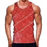 Camiseta de Tirantes Deportes para Hombre 3D Tops Camisa sin Mangas Chaleco Verano T Shirt Fitness Característica Moda Casual