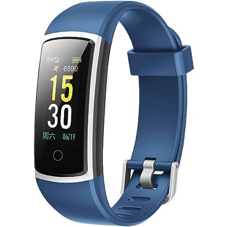 スマートウォッチ 歩数計 活動量計 GanRiver 腕時計 IP68防水 ランニングモード アラーム 着信電話 Line通知 多機能 ios&Android対応 日本語説明書