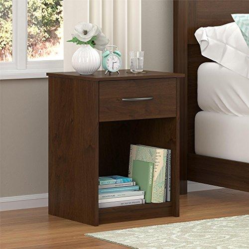 Ameriwood Home Core Nightstand, Medium Brown