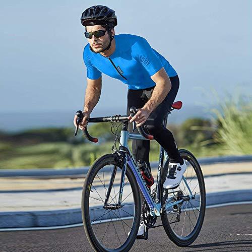 FEIXIANG Herren Fahrradtrikot, Kurzarm Radtrikot Fahrrad Trikot Fahrradbekleidung für Männer, Atmungsaktive Cycling Jersey Radsport Bekleidung - 5