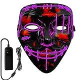 Neusky LED LEUCHT Maske, 3 Verschiedene Blinkmodi Elektronik Maske, Party Leuchtmaske...