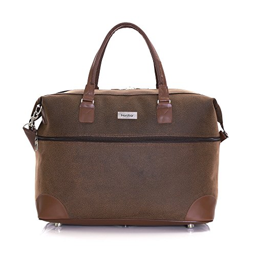 Karabar Leather Style Travel Carry-on Cabin Hand Luggage Weekend Bag 55 cm 800 Grams 44 litres, Berwyn Brown