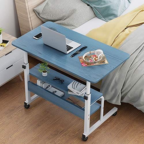Jlxl Adjustable Overbed Bedside Table With Wheels, Sofa Side Nursing Reading Breakfast Table For Home Office Mobile Laptop Computer Desk Furniture (Color : B, Size : 80x40cm)