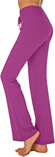 PACBREEZE Women's Yoga Pants Comfy Modal Drawstring Lounge Running Workout Straight Leg Pants