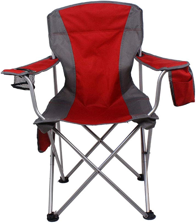 Vimelo Outdoor Klappstuhl Angeln Stuhl Strand Lounge Chair Einfache Sessel Outdoor Sessel Camping Ausrüstung Einfache Mbel Strand Stuhl Klappstuhl (Farbe   rot)
