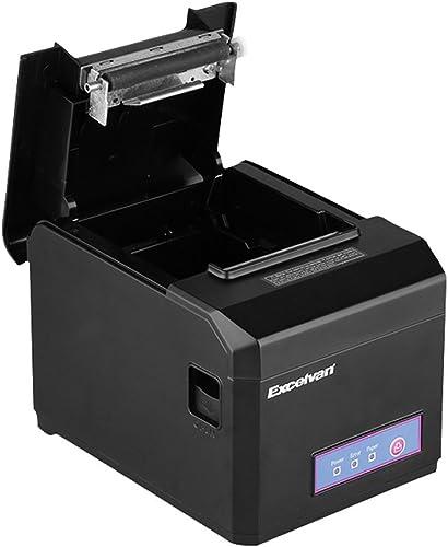Imprimante Thermique de Reçu 300mm/s 80mm EXCELVAN Auto-Cut USB COM Internet(100M) Ethernet Port série Andriod&iOS Wi...