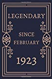 Legendary Since February 1923  Glossy cover Journal 97th Birthday/anniversary Vintage Gift idea Birthday For 97 Years Old Company/Club/man/woman ... book 120 pages White Paper ruled 6x9.