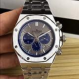PLKNVT Luxury Automatic Meccanico Self Wind Men Watch Vetro Zaffiro Silver Limited Sport Nero Blu...
