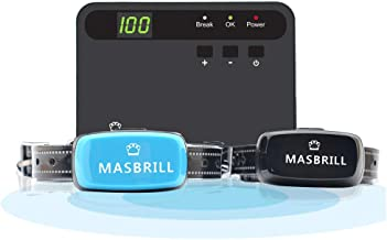 MASBRILL Electric Dog Fence, Underground Fence Containment Systerm, Suitable for Small, Medium, Big Dogs, Best Pet Safety Solution, Equip Rechargeable Receiver Collar
