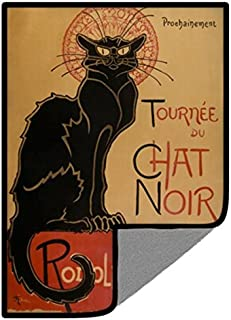 Toddy Gear Microfiber Screen Cleaning Cloth for Cell Phones, Tablets and Electronic Screens, 5 x 7 Inches, Le Chat Noir (PD6012)