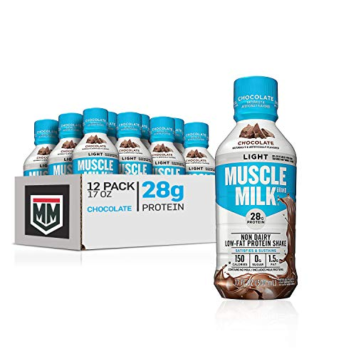Muscle Milk Muscle Milk Light Protein Shake, Chocolate, 28g Protein, 17 Fl Oz, 12 Count