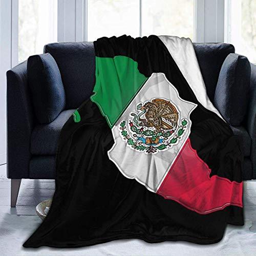 Ives Jean Flanell Fleece Throw Mikrofaser Decke Vintage Mexico Flag Blanket Throw warme Decken Super Cosy Soft für Couch Schlafsofa Beach Travel
