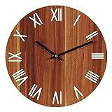 Orologio da parete senza ticchettio – per offrire un'esperienza più confortevole, il nostro orologio da parete utilizza un meccanismo a parete che non ticchettio. Questo orologio da parete è silenzioso, puntuale e preciso. Si prega di utilizzare batt...