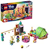 LEGO Trolls - L'Avventura sulla Zattera a Lonesome Flats, con Zattera, Palcoscenico e 3 Minifigure Troll per Ricreare le Scene del Trolls World Tour, Set di Costruzioni per Bambini +4 Anni, 41253