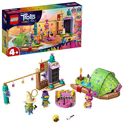 LEGO 41253 Trolls World Tour Floßabenteuer in Einsamshausen Spielset mit Poppy, Branch und Hicory