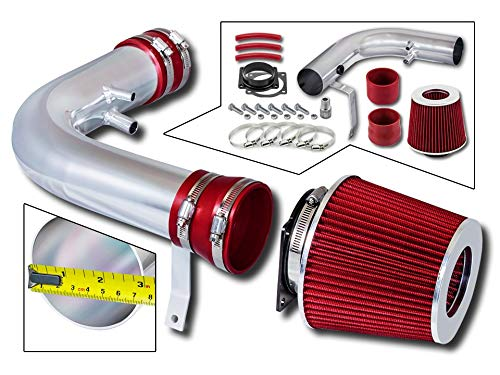 Rtunes Racing Short Ram Air Intake Kit + Filter Combo RED Compatible For 97-03 Ford F-150 / Expedition / 97-99 Ford F-250/98-99 Lincoln Navigator V8