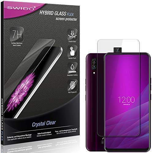 SWIDO Panzerglas Schutzfolie kompatibel mit Allview Soul X6 Xtreme Bildschirmschutz-Folie & Glas = biegsames HYBRIDGLAS, splitterfrei, Anti-Fingerprint KLAR - HD-Clear