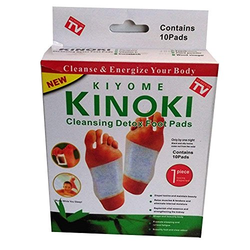 Kinoki Cleansing Detox Foot Pads Patch Foot Mask Peeling Sticker Hallux Valgus Spa Ion Tourmaline Massage Energizer (10pcs in a Box)