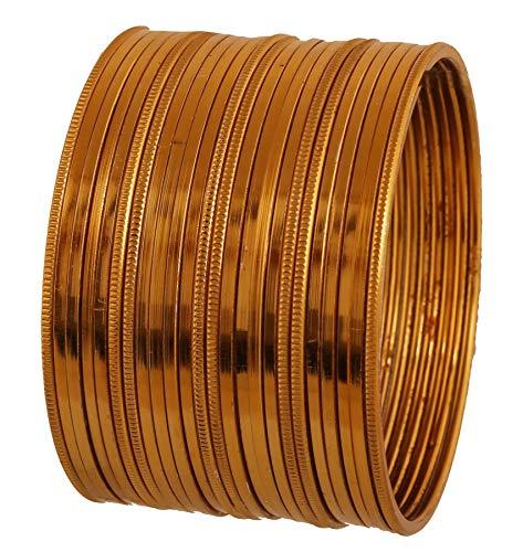 Touchstone 2 Dutzend Armreif Sammlung schöne Maserung Arbeit einfach nüchternen dünnen Designer-Schmuck Armbänder Armreif für Damen 2.5 Set 2 Gold