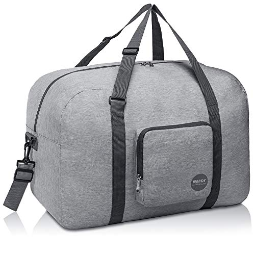 Foldable Duffle Bag 50L, Super Lightweight Travel Duffel for Luggage Sports Gym Water Resistant by WANDF