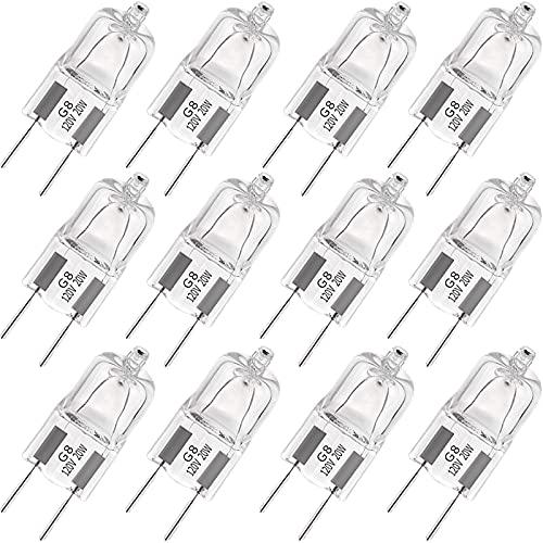 G8 Halogen Light Bulbs 20W 120V G8 Base 2Pin Xenon Light Bulb T4 Type...