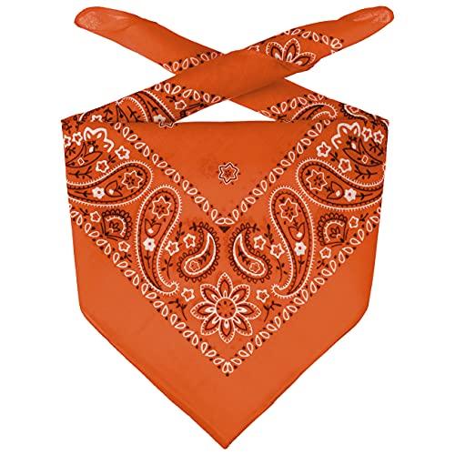 Lipodo Bandana Tuch Damen/Herren/Kinder - Kopftuch in Koralle aus 100% Baumwolle - Multifunktionstuch in Einheitsgröße (55 x 55 cm) - vielfältige Tragemöglichkeiten