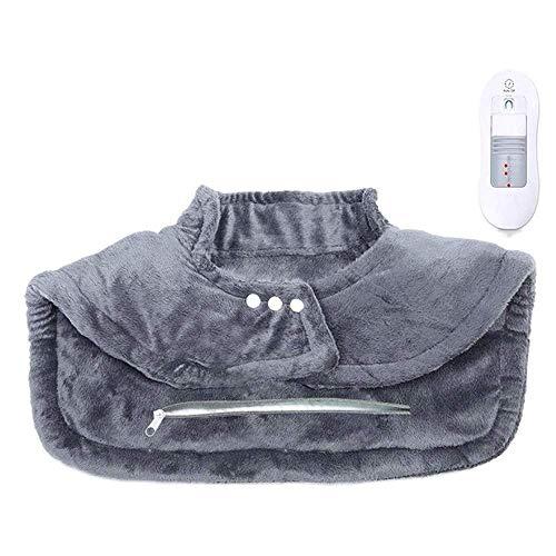 LMCLJJ cojín de calefacción for el alivio del dolor de espalda y hombros, Sable Calefacción Wrap for el cuello con apagado automático-3 ajustes de temperatura aijia