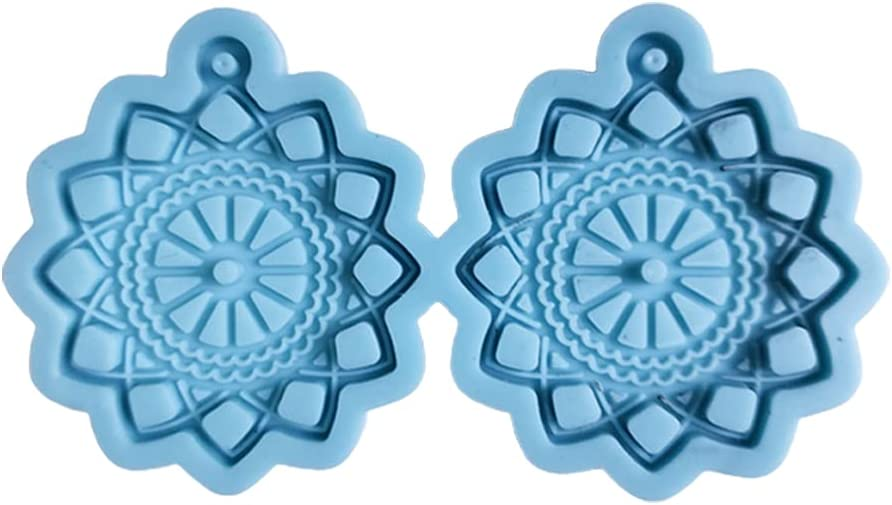 Earrings Online limited product Epoxy Resin Max 49% OFF Mold Keychain Mould Pendant DIY Je Silicone