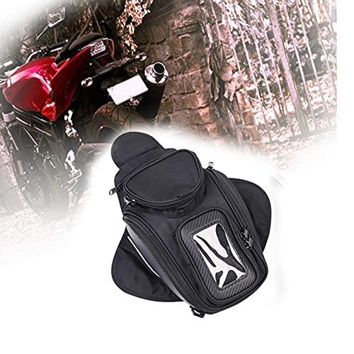 Motorrad Tankrucksack Oxford magnetische Satteltasche mit großen Fenster 48,5 * 37 cm Universal Rear Seat Satteltasche Travel Tool Schwanz Gepäck