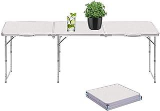 comprar comparacion Sunreal Mesa Plegable portátil 1,82 m Ajustable Plegable para Camping/Cocina/Mesa de Trabajo para Picnic/Barbacoa/Cena al ...
