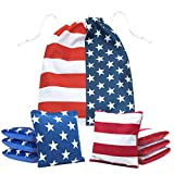 JST GAMEZ Cornhole Bags Slick and Stick Set of 8 for Cornhole Toss Games Double Sided with Carry Bag - Regulation Weight and Size - Resin Filled