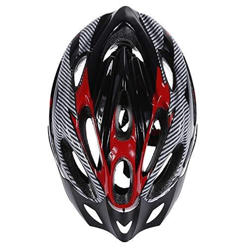 ZZYLHS Casco De Ciclismo Casco De Bicicleta Ultraligero Casco De Bicicleta De Carretera De Montaña Ajustable (Color : Black)