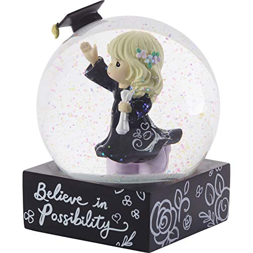 Precious Moments 193105 Believe in Possibility Snow Globe WATERBALL, One Size, Black