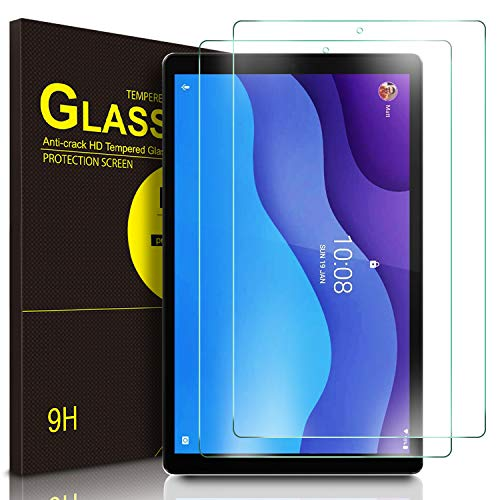 ELTD Protector de Pantalla para Lenovo Tab M10 HD (2ª generación) TB-X306X / TB-X306F, 9H,2.5D, Vidrio Templado Glass Film Protector de Pantalla para Lenovo Tab M10 HD 10.1 2020, 2 Pack