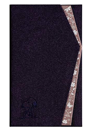 [SNOOPY(スヌーピー)] ふくさ 袱紗 (ムラサキ/花紫) 冠婚葬祭 ご香典ご祝儀袋カバー SNOOPY PEANUTS
