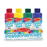Melissa & Doug Poster Paint Set of 4 Arts and Crafts-Supplies (Great Gift for Girls and Boys - Best for 3, 4,...