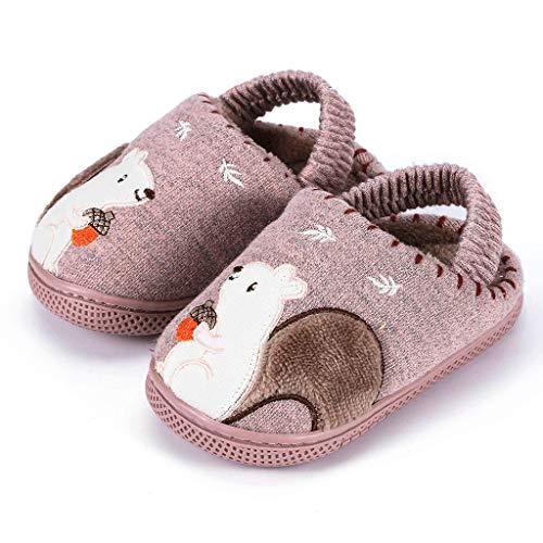 FELZ Zapatillas De Casa Niños Ninas Invierno Zapatos Calzado Interiores Caliente Suave Pantuflas Infantil Bebé Niña Calcetines Antideslizantes Zapatos Bebe Primeros Pasos para 6 Mes A 5 Años